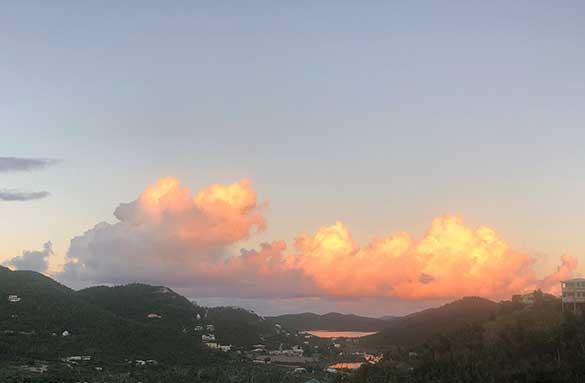 Reverse Sunset over St. John